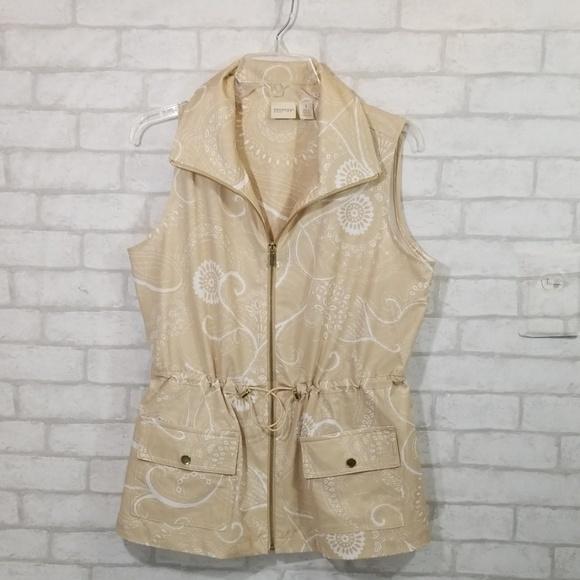 Chico's Jackets & Blazers - Zenergy by chicos zip up hoodie vest size 1